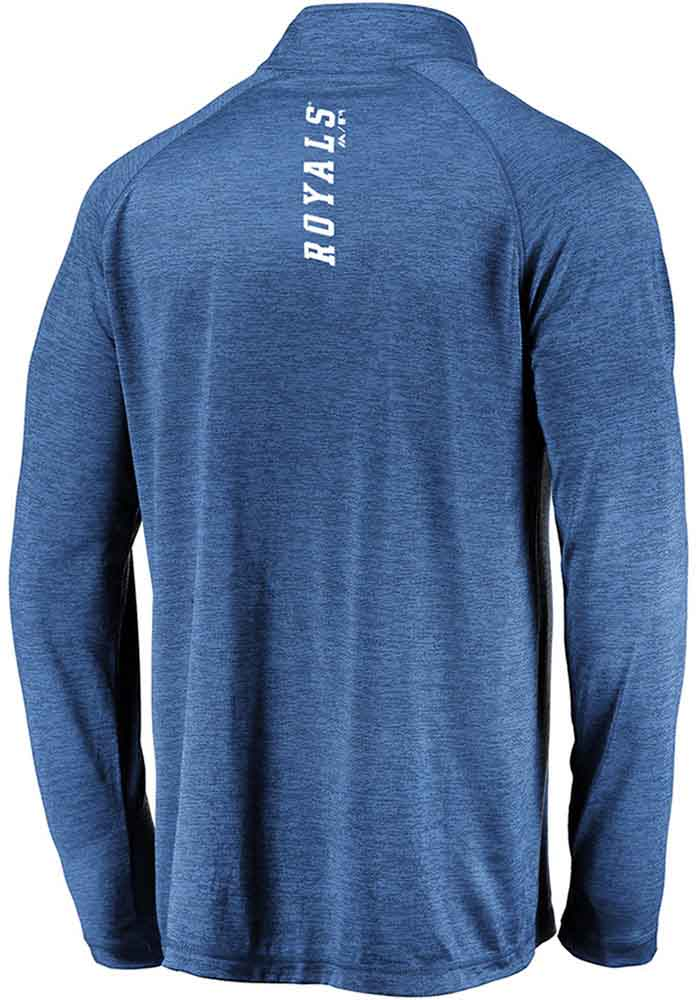 Majestic Kansas City Royals Mens Blue Contenders Welcome Long Sleeve 1/4 Zip Pullover - Image 2