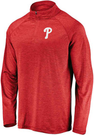 Philadelphia Phillies Majestic Contenders Welcome 1/4 Zip Pullover - Red