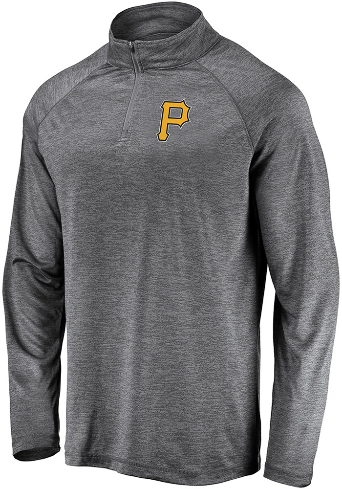 Majestic Pittsburgh Pirates Mens Black Contenders Welcome Long Sleeve 1/4 Zip Pullover - Image 1