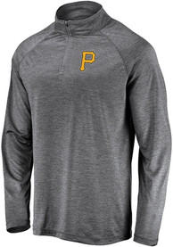 Pittsburgh Pirates Majestic Contenders Welcome 1/4 Zip Pullover - Black