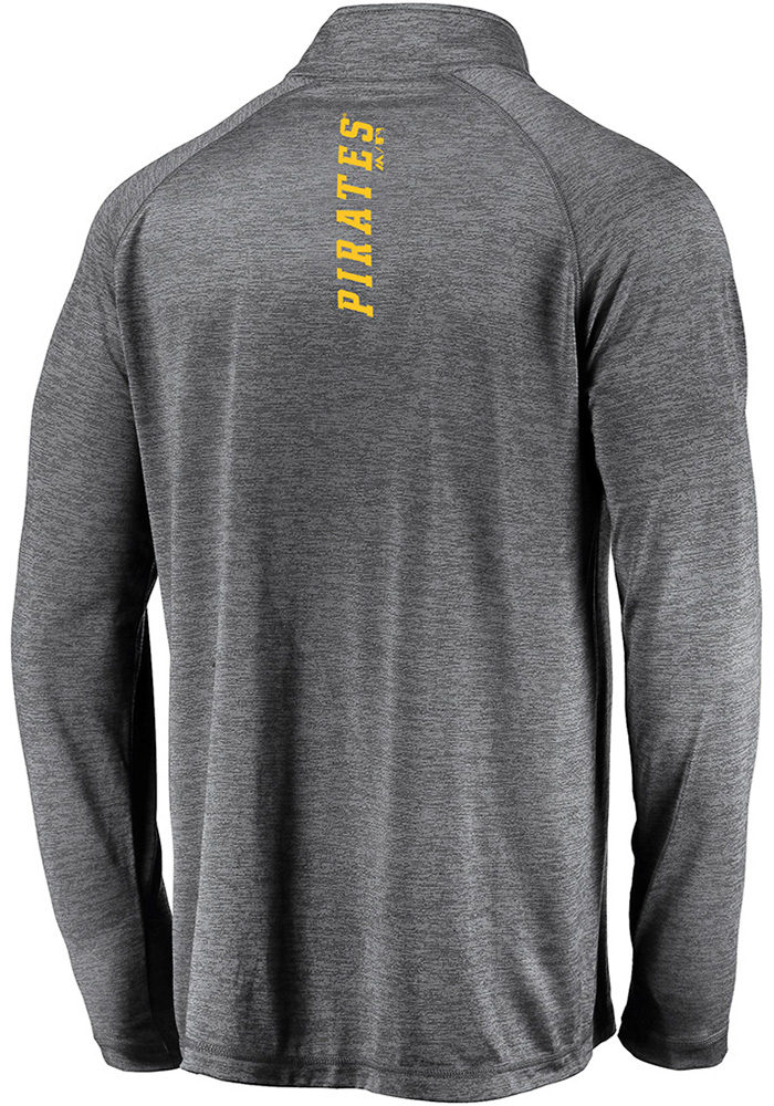 Majestic Pittsburgh Pirates Mens Black Contenders Welcome Long Sleeve 1/4 Zip Pullover - Image 2