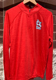 St Louis Cardinals Majestic Contenders Welcome 1/4 Zip Pullover - Red
