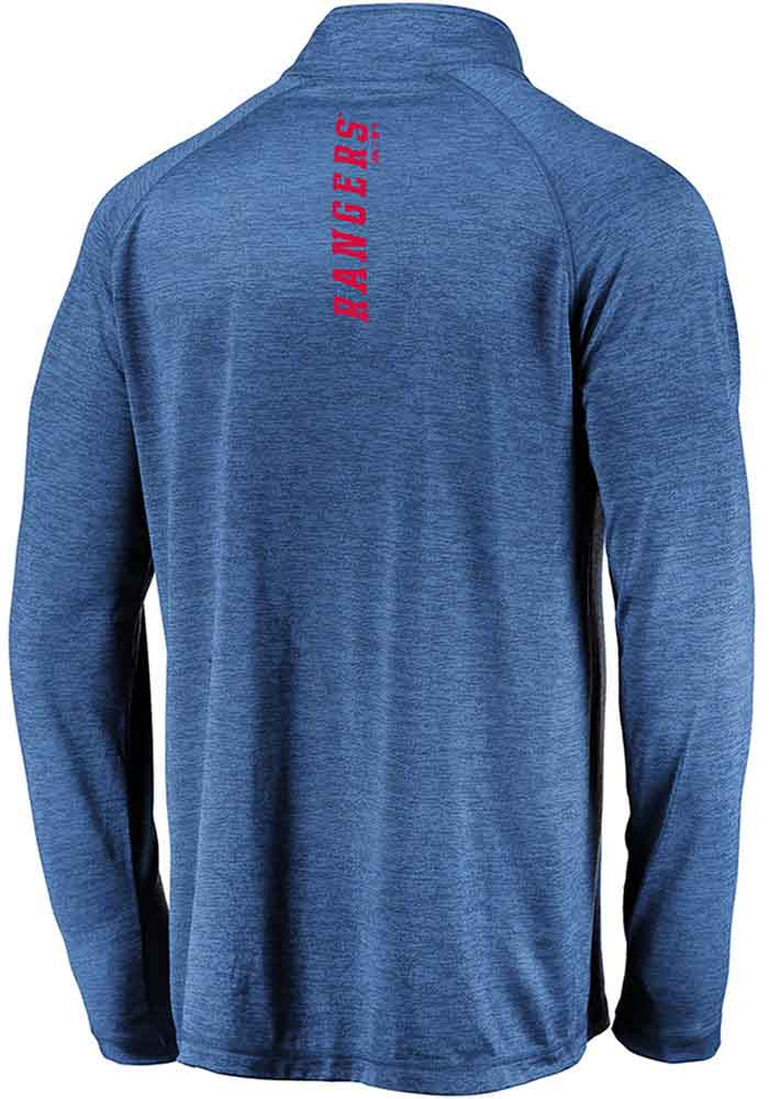 Majestic Texas Rangers Mens Blue Contenders Welcome Long Sleeve 1/4 Zip Pullover - Image 2