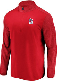 St Louis Cardinals Majestic Practice Makes Perfect 1/4 Zip Pullover - Red