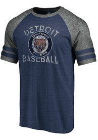Detroit Tigers Majestic Earn Your Stripes Fashion T Shirt - Navy Blue