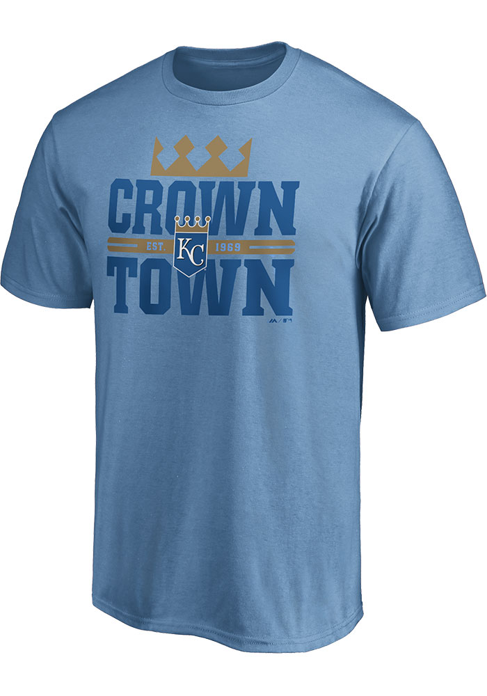 Kansas City Royals Majestic Fine Contribution T Shirt - Light Blue
