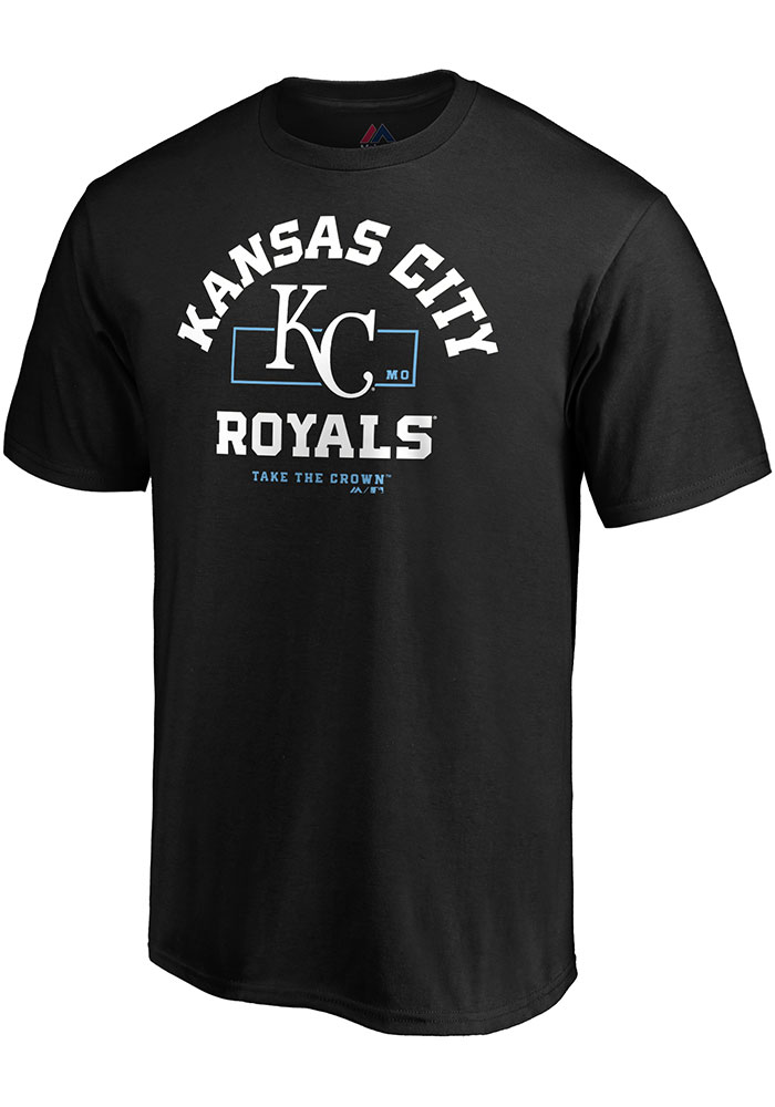 Kansas City Royals Majestic Primary Objective T Shirt - Black
