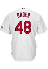Harrison Bader St Louis Cardinals Majestic 2018 Home Replica - White
