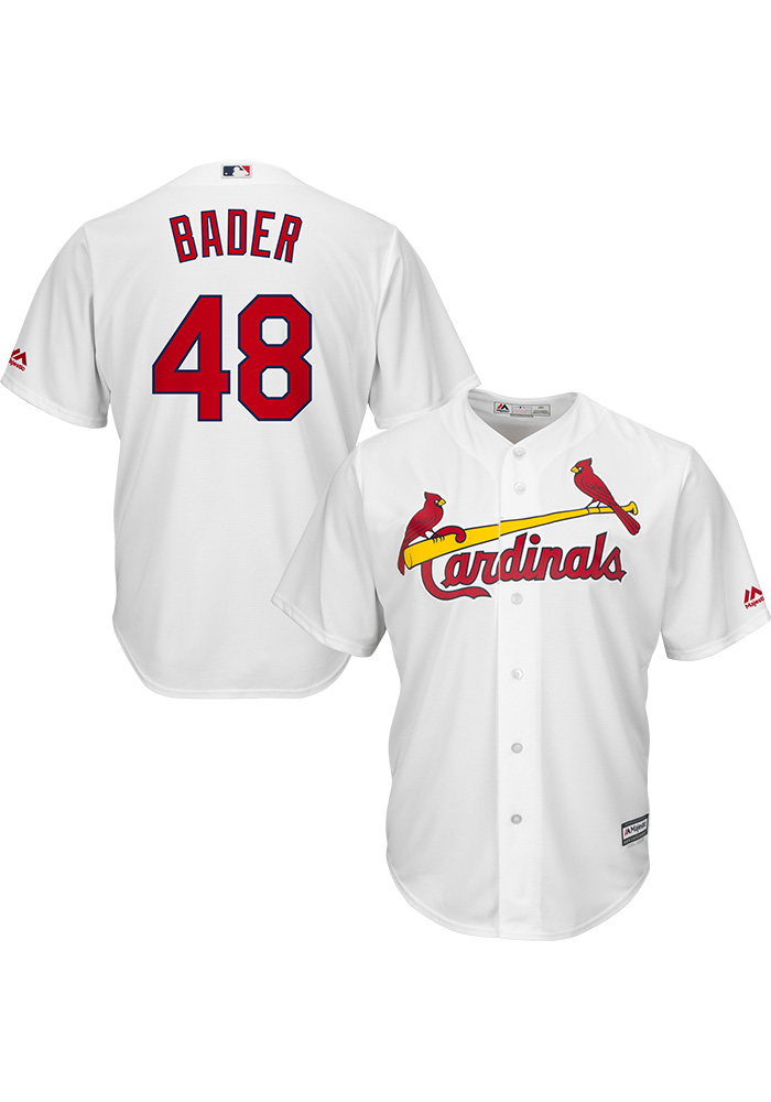 Harrison Bader St Louis Cardinals Mens Replica 2018 Home Jersey - White - Image 3