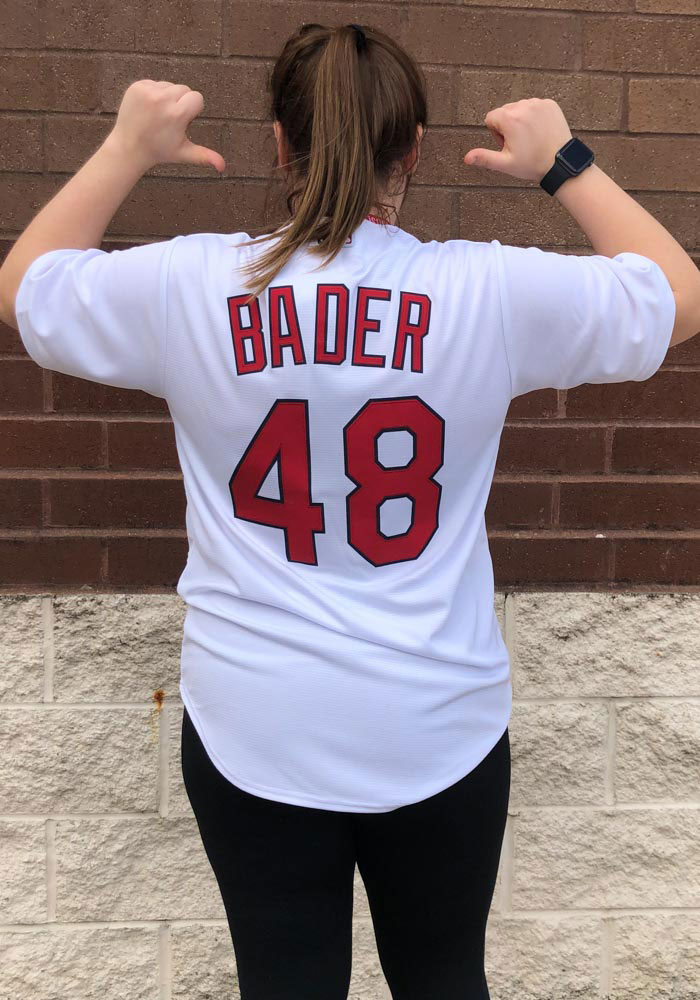 Harrison Bader St Louis Cardinals Mens Replica 2018 Home Jersey - White - Image 4