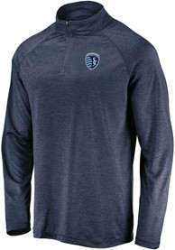 Sporting Kansas City Contenders Welcome 1/4 Zip Pullover - Navy Blue