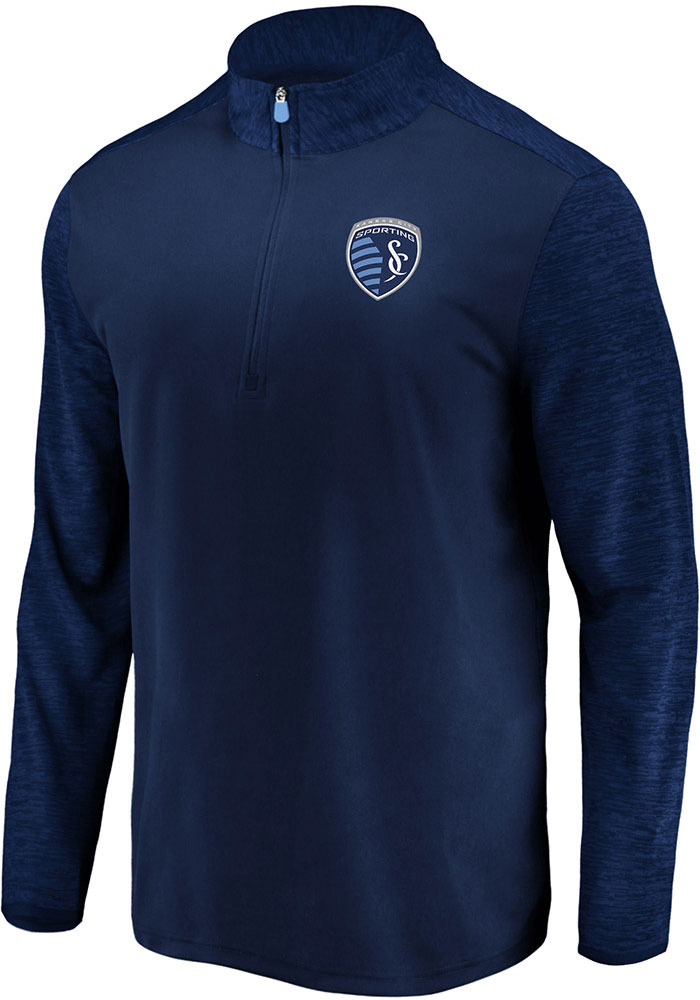 Sporting Kansas City Navy Blue Practice Makes Perfect 1/4 Zip Pullover