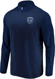 Sporting Kansas City Practice Makes Perfect 1/4 Zip Pullover - Navy Blue