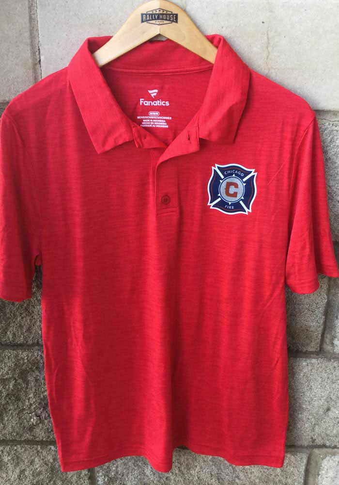 Chicago Fire Mens Red Positive Production Short Sleeve Polo - Image 2