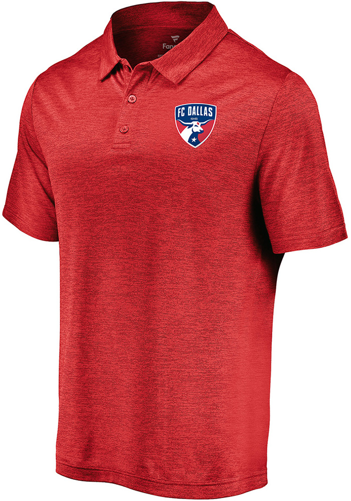 FC Dallas Mens Red Positive Production Short Sleeve Polo - Image 1