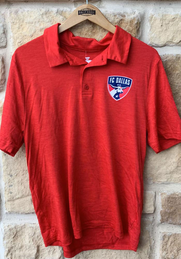 FC Dallas Mens Red Positive Production Short Sleeve Polo - Image 2