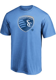Sporting Kansas City Slash And Dash T Shirt - Light Blue