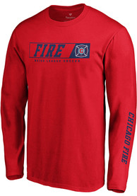 Chicago Fire Chase Down T Shirt - Red