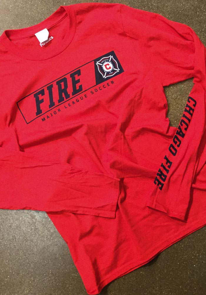 Chicago Fire Red Chase Down Long Sleeve T Shirt - Image 2