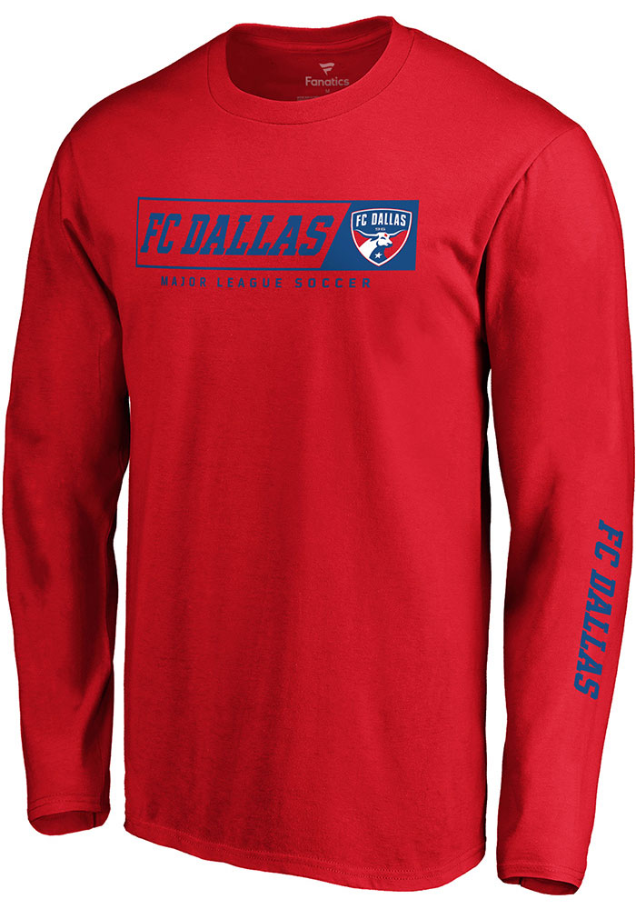 FC Dallas Red Chase Down Long Sleeve T Shirt - Image 1