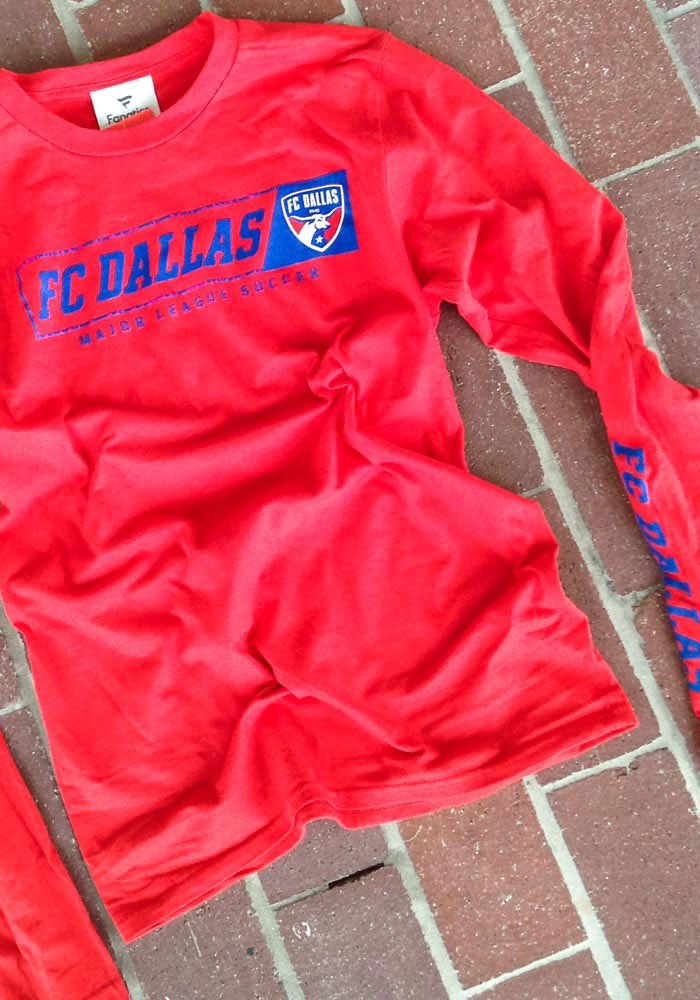 FC Dallas Red Chase Down Long Sleeve T Shirt - Image 2