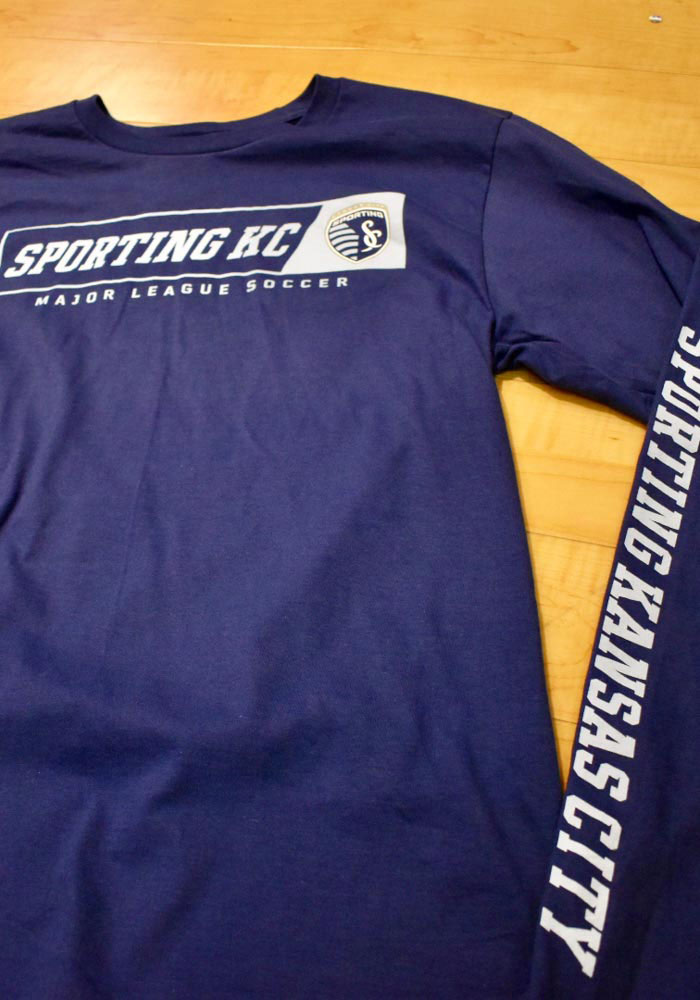 Sporting Kansas City Navy Blue Chase Down Long Sleeve T Shirt - Image 2