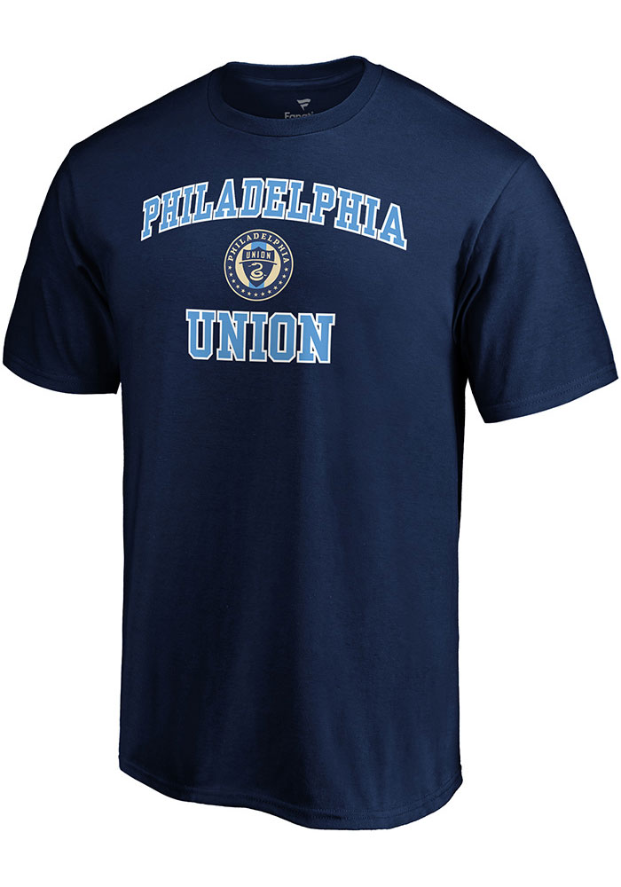Philadelphia Union Heart and Soul T Shirt - Navy Blue
