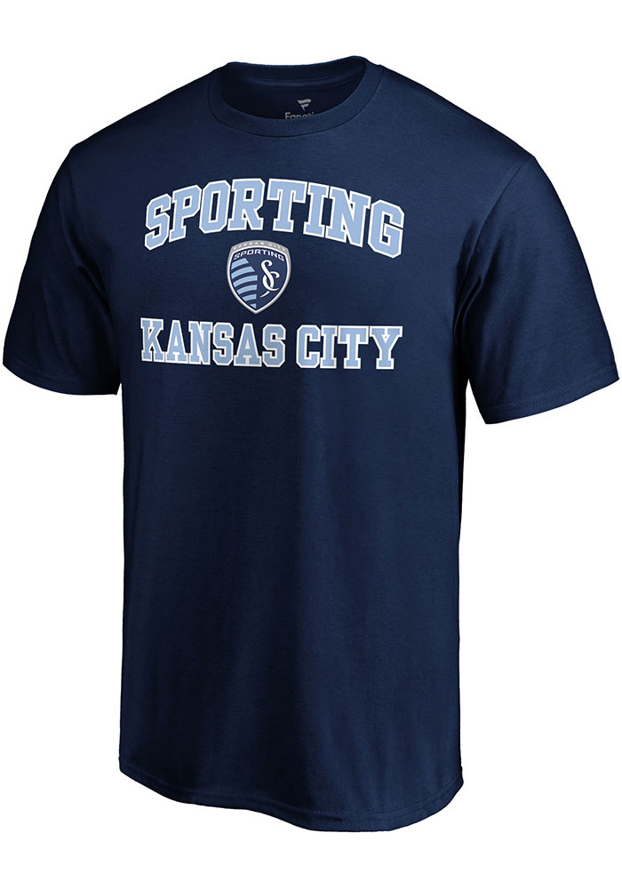 Sporting Kansas City Heart and Soul T Shirt - Navy Blue