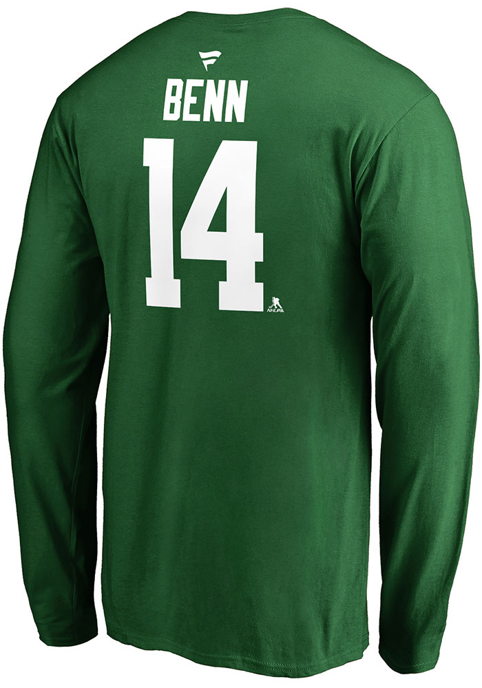 Jamie Benn Dallas Stars Green Name & Number Long Sleeve Player T Shirt - Image 2
