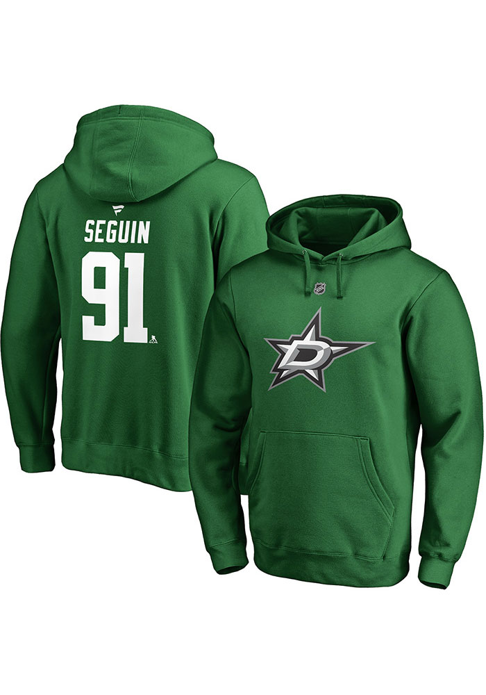Tyler Seguin Dallas Stars Mens Green Name And Number Player Hood - Image 1