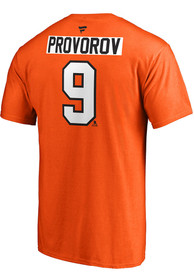 Ivan Provorov Philadelphia Flyers Name Number T-Shirt - Orange