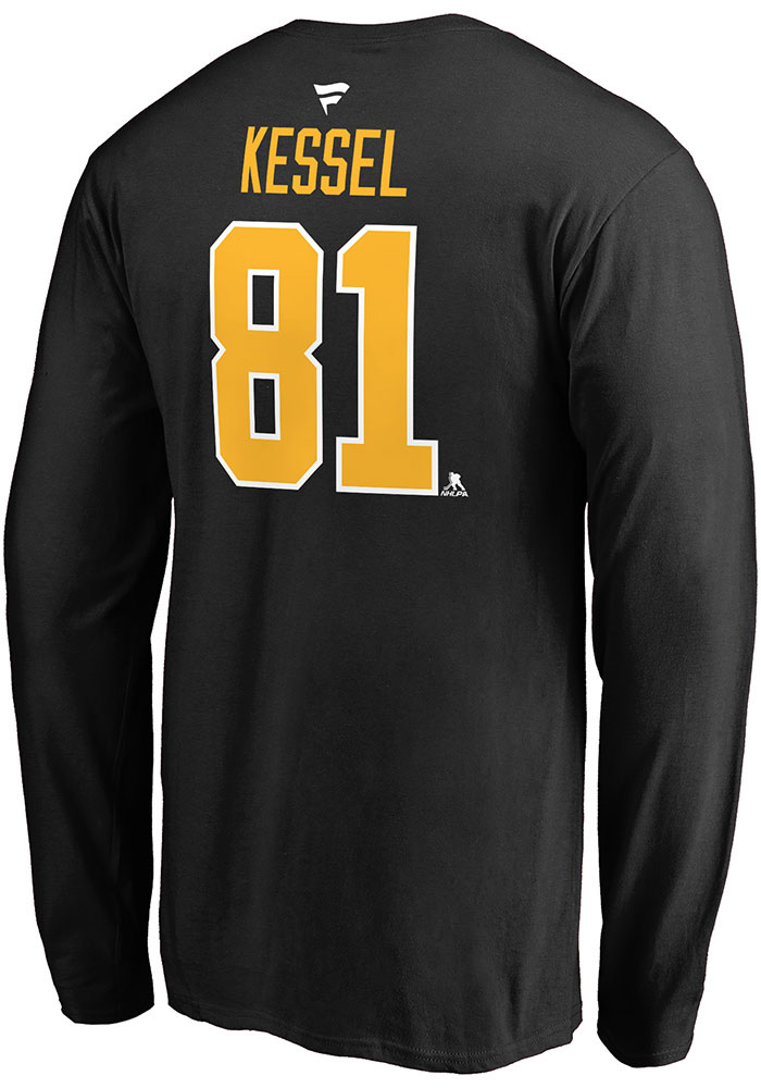 Phil Kessel Pittsburgh Penguins Black Name & Number Long Sleeve Player T Shirt - Image 1