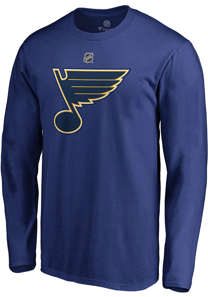 Colton Parayko St Louis Blues Blue Name & Number Long Sleeve Player T Shirt - Image 2