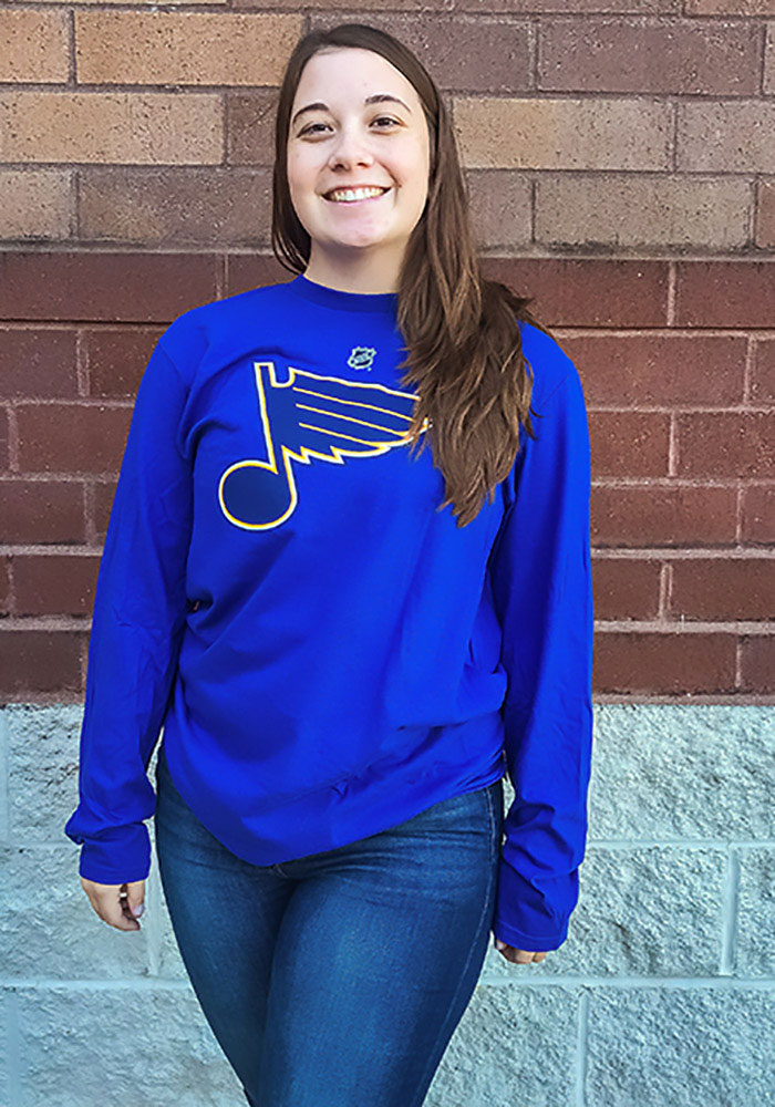 Colton Parayko St Louis Blues Blue Name & Number Long Sleeve Player T Shirt - Image 4