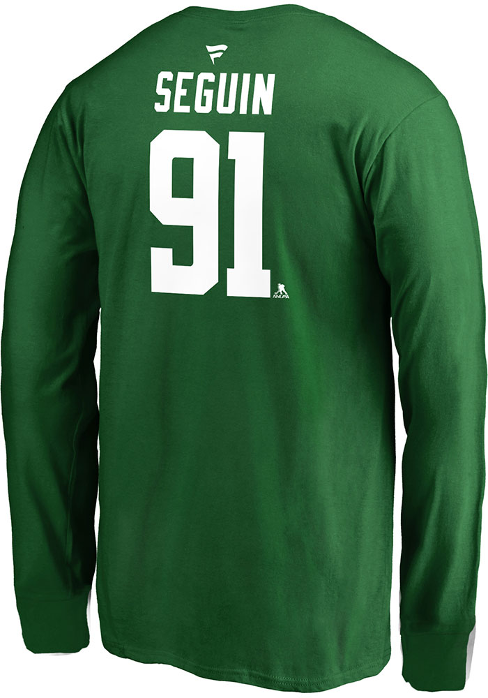 Tyler Seguin Dallas Stars Youth Green Name & Number Player Tee - Image 2