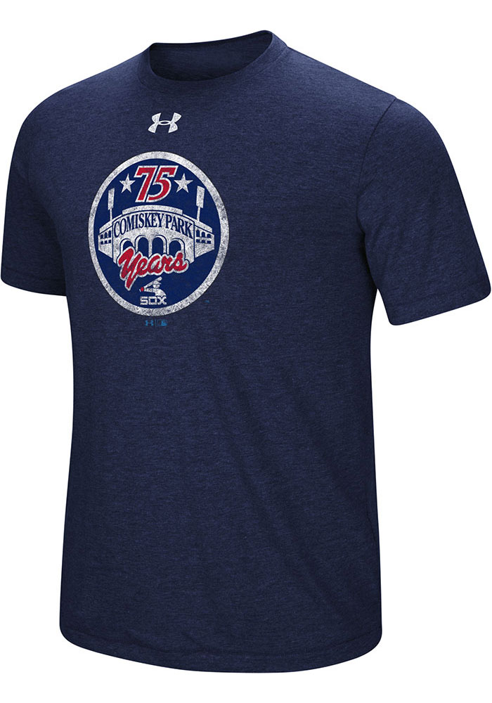 Under Armour Chicago White Sox Mens Navy Blue Signature Event Short Sleeve Fashion T Shirt - Image 1