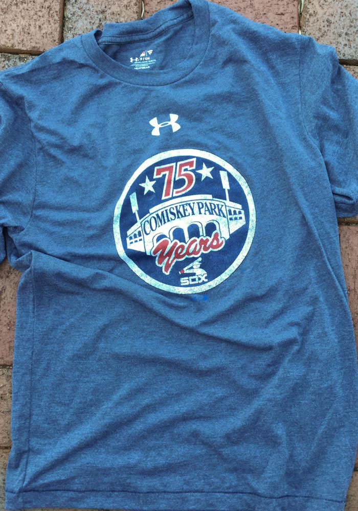 Under Armour Chicago White Sox Mens Navy Blue Signature Event Short Sleeve Fashion T Shirt - Image 3