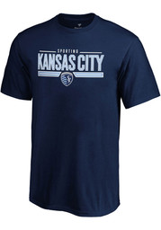 Sporting Kansas City Youth Navy Blue On To The Win Short Sleeve T-Shirt