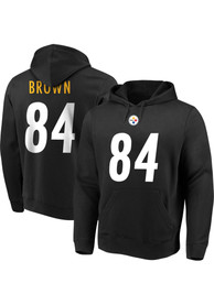 Antonio Brown Pittsburgh Steelers Majestic Name Number Long Sleeve T-Shirt - Black