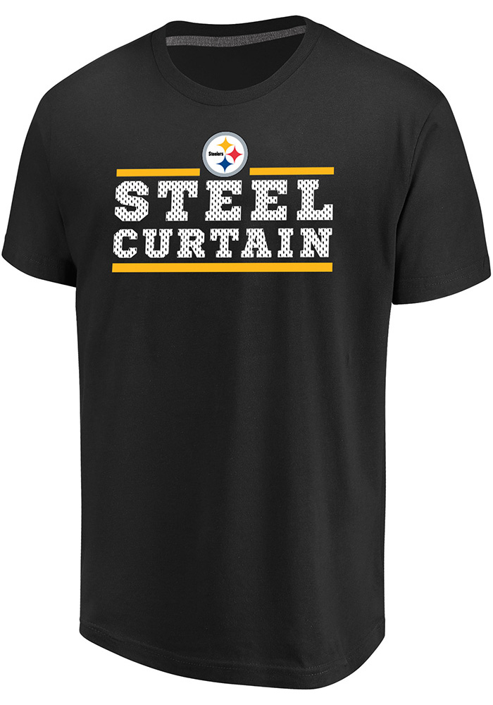 Majestic Pittsburgh Steelers Black Safety Blitz Tee