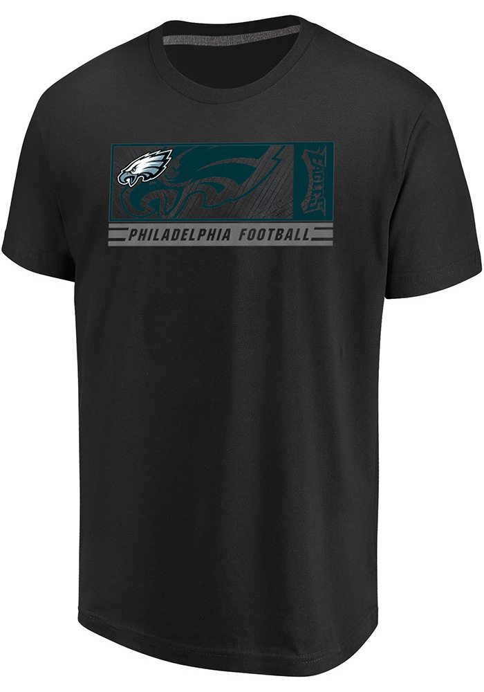 Majestic Philadelphia Eagles Black Hook & Ladder Short Sleeve T Shirt - Image 1