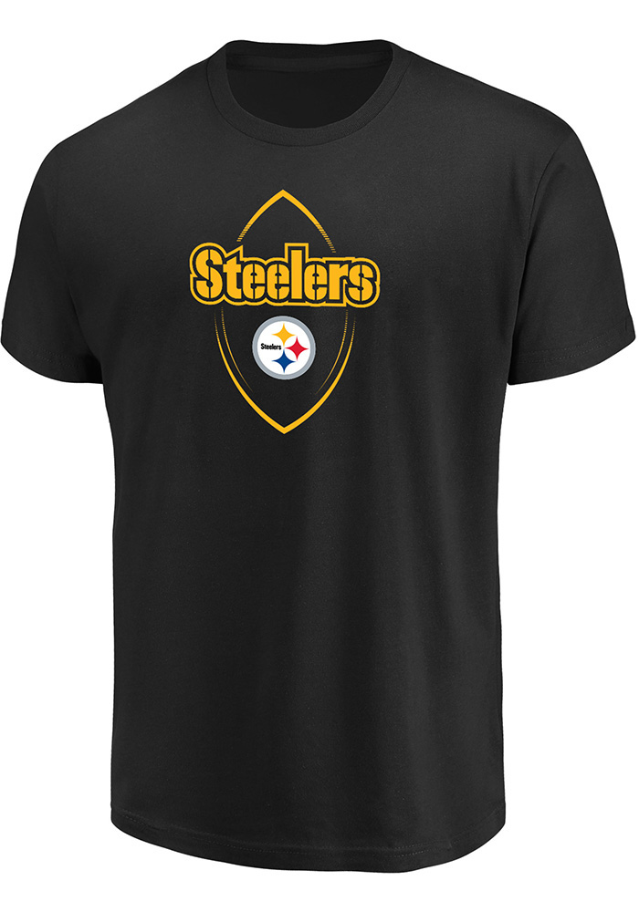 Majestic Pittsburgh Steelers Black Maximized Tee