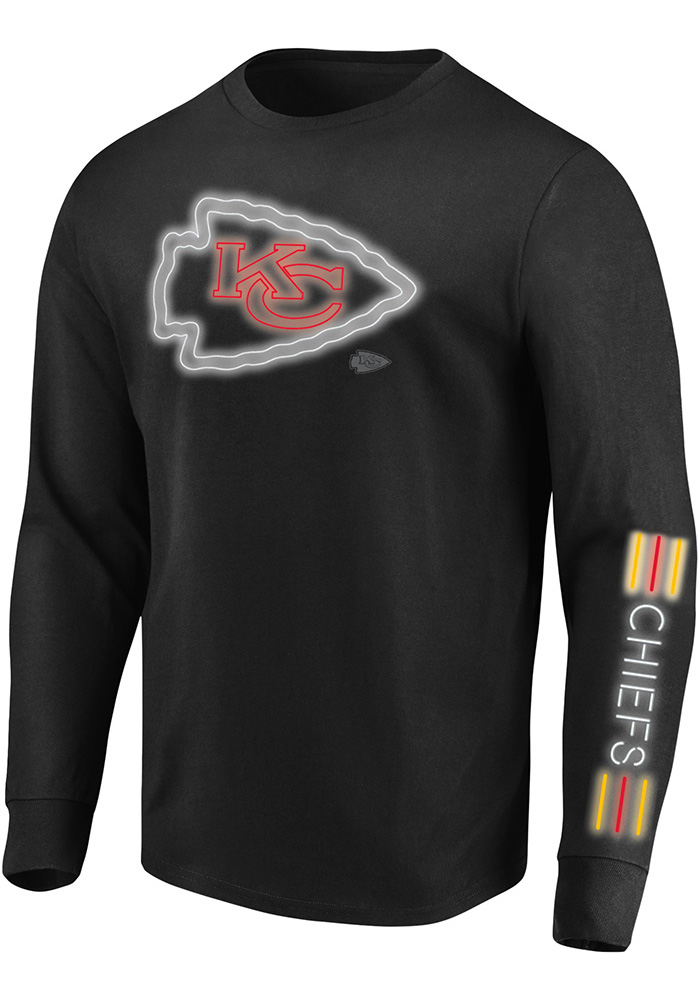 Majestic Kansas City Chiefs Black Startling Success Long Sleeve T Shirt - Image 1