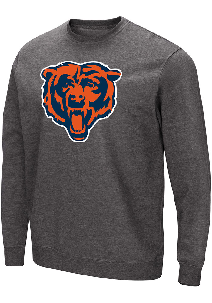 Majestic Chicago Bears Mens Grey Perfect Play Long Sleeve Crew Sweatshirt - Image 1
