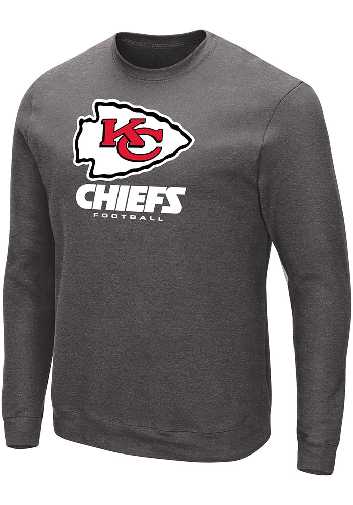 Majestic Kansas City Chiefs Grey Critical Victory III Sweatshirt db39d84ae