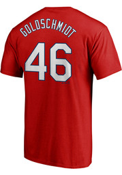 Paul Goldschmidt St Louis Cardinals Majestic Name and Number T-Shirt - Red