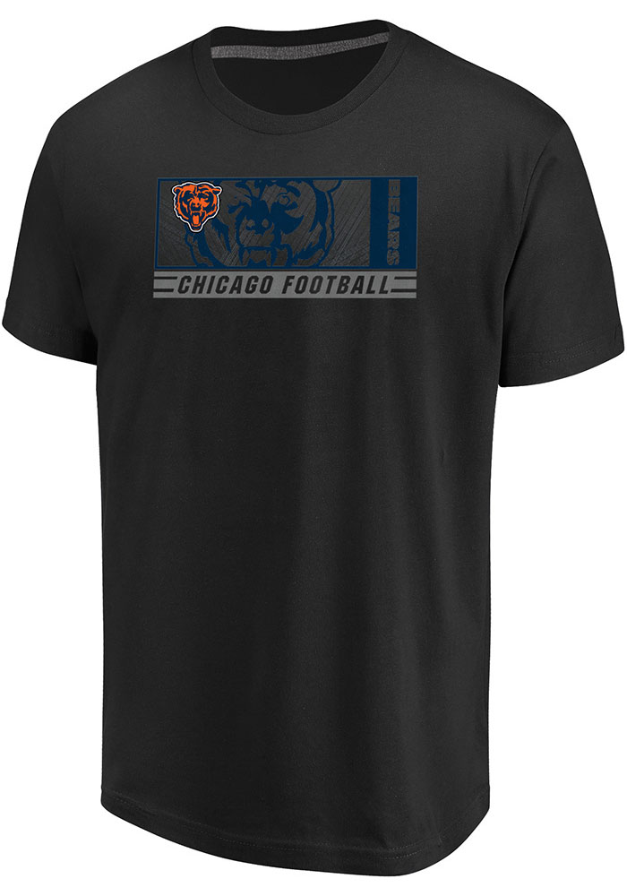 Majestic Chicago Bears Black Hook And Ladder Short Sleeve T Shirt - Image 1