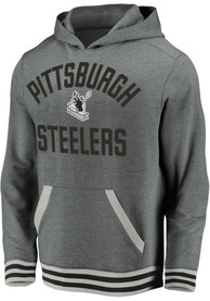 Pittsburgh Steelers Vintage Fashion Hood - Grey
