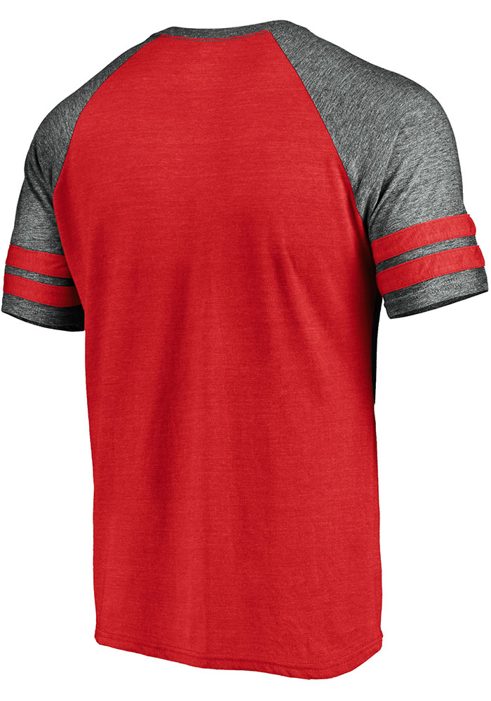 Kansas City Chiefs Red Retro Arch Helmet Short Sleeve Fashion T Shirt - Image 2