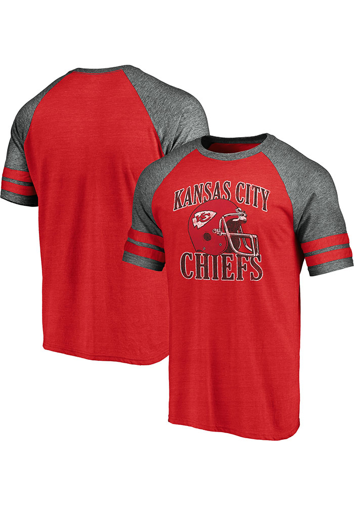 Kansas City Chiefs Red Retro Arch Helmet Short Sleeve Fashion T Shirt - Image 3